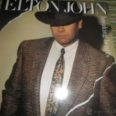 Discos de vinilo: ELTON JOHN - BREAKING HEARTS LP - ORIGINAL INGLES - PHONOGRAM 1984 FUNDA INT. ORIGINAL MUY NUEVO(5). Lote 54501266