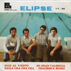 Discos de vinilo: ELIPSE, EP, DILE AL VIENTO + 3, AÑO 1975. Lote 54505052