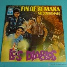 Discos de vinilo: LOS DIABLOS. FIN DE SEMANA. ME CONFORMARÉ. Lote 54505541