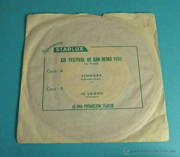 XIX FESTIVAL DE SAN REMO 1969. SUPERVENTAS STARLUX (Música - Discos - Singles Vinilo - Otros Festivales de la Canción)