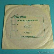 Discos de vinilo: XIX FESTIVAL DE SAN REMO 1969. SUPERVENTAS STARLUX. Lote 54505963