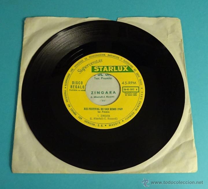 Discos de vinilo: XIX FESTIVAL DE SAN REMO 1969. SUPERVENTAS STARLUX - Foto 2 - 54505963