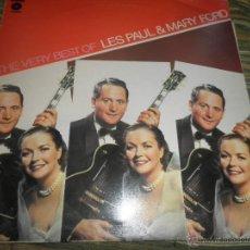 Discos de vinilo: LES PAUL & MARY FORD - THE VERY BEST OF LP - EDICION INGLESA - EMI/CAPITOL RECORDS 1974 -STEREO-. Lote 54510440