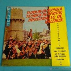 Discos de vinilo: TUNA DE LA ESCUELA TÉCNICA DE PERITOS INDUSTRIALES DE VALENCIA. Lote 54512909