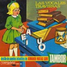 Discos de vinilo: DESFILE DE CUENTOS INFANTILES DE ARMANDO MATIAS GUIU TAMBOR EP VOCALES TRAVIESAS. Lote 54513480