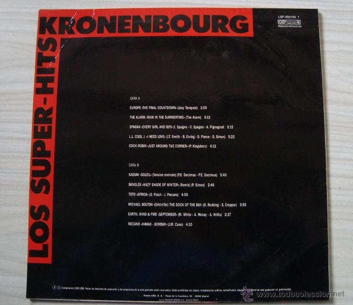 Discos de vinilo: Musica, Lp´s, LP disco vinilo - los super hits kronenbourg - Foto 2 - 54520362