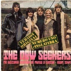 Discos de vinilo: THE NEW SEEKERS- I'D LIKE TO TEACH THE WORLD TO SING + BOOM TOWN - SG 1972. Lote 54500350