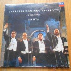 Discos de vinilo: CARRERAS, DOMINGO PAVAROTTI, EN CONCIERTO MEHTA. Lote 54523414