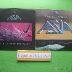 Discos de vinilo: ASIA(2 SG ) ONLY TIME... / WHO WILL STOP T... SG SPAIN 1982 PDELUXE. Lote 54531734