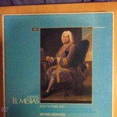 Discos de vinilo: EL MESIAS. HAENDEL. DECCA. CAJA CON 3 LPS. JOAN SUTHERLAND. AMBROSIAN SINGERS. ORQUESTA INGLESA DE C. Lote 54544138