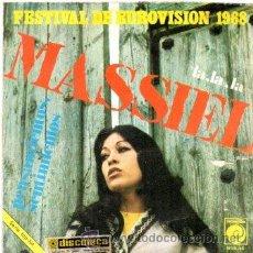 Discos de vinilo: MASIEL - LA, LA, LA + PENSAMIENTOS, SENTIMIENTOS - SG 1968 - EUROVISION. Lote 54545447