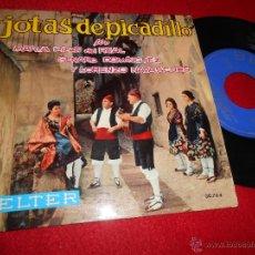 Discos de vinilo: MARIA PILAR DEL REAL+GENARO DOMINGUEZ+LORENZO NAVASCUES JOTAS PICADILLO EP 1963 BELTER EX. Lote 54552027