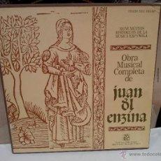 Discos de vinilo: JUAN DEL ENZINA FORMATO CAJA OBRA MUSICAL COMPLETA VER FOTOS. Lote 54556939