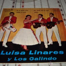 Discos de vinilo: LUISA LINARES Y LOS GALINDOS. Lote 54557506