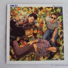 Discos de vinilo: RICO, BLUSIANA, POLYGRAM IBERICA 1993, FUNDA INTERIOR CON LAS LETRAS DE LAS CANCIONES.. Lote 54560890