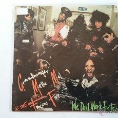 Discos de vinilo: GRANDMASTER MELLE MEL & THE FURIOUS FIVE - WE DON'T WORK FOR FREE + INSTRUMENTAL VERSION (1984). Lote 54562887