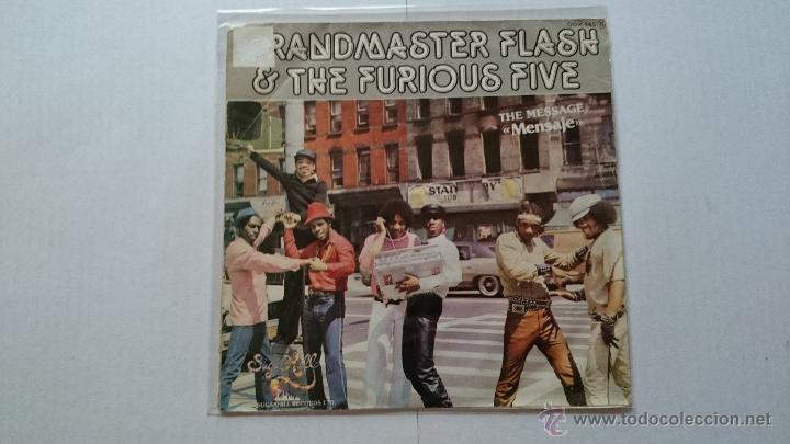 GRANDMASTER FLASH & THE FURIOUS FIVE - THE MESSAGE (PART I) / THE MESSAGE (PART II) (PROMO 1982) (Música - Discos - Singles Vinilo - Rap / Hip Hop)
