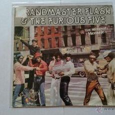 Discos de vinilo: GRANDMASTER FLASH & THE FURIOUS FIVE - THE MESSAGE (PART I) / THE MESSAGE (PART II) (PROMO 1982). Lote 203231765