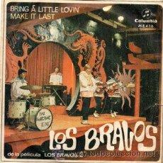Discos de vinil: LOS BRAVOS - BRING A LITTLE LOVIN' + MAKE IT LAST - SG 1967. Lote 213632990