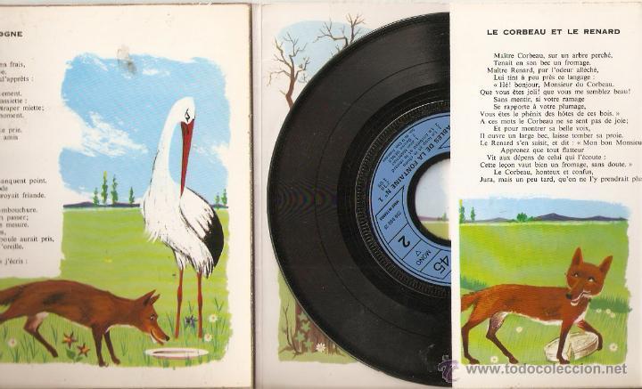 Discos de vinilo: Fables de la Fontaine. Disque ilustre Pergola. Funda desplegable con cuento ilustrado. Vell i Bell - Foto 2 - 54566492