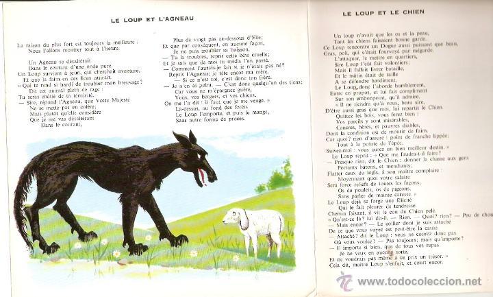Discos de vinilo: Fables de la Fontaine. Disque ilustre Pergola. Funda desplegable con cuento ilustrado. Vell i Bell - Foto 3 - 54566492