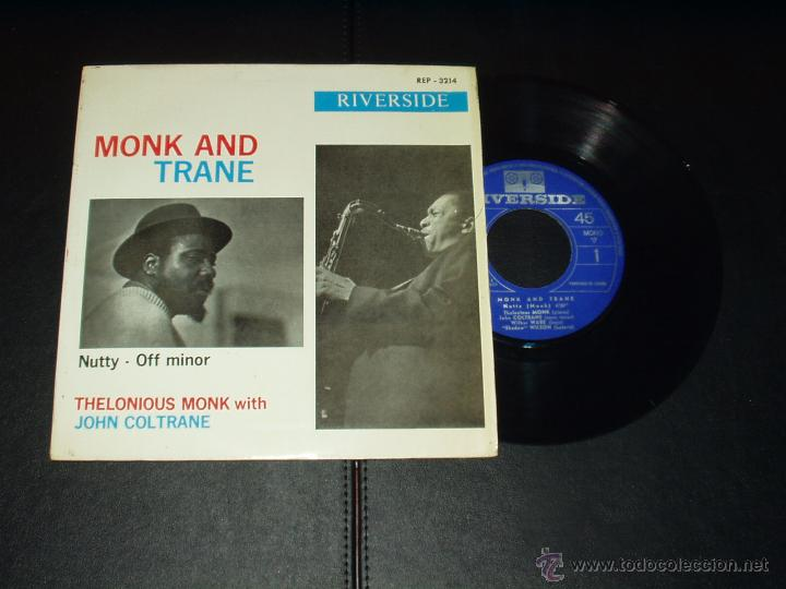 THELONIOUS MONK WITH JOHN COLTRANE EP NUTTY+3 (Música - Discos de Vinilo - EPs - Jazz, Jazz-Rock, Blues y R&B)