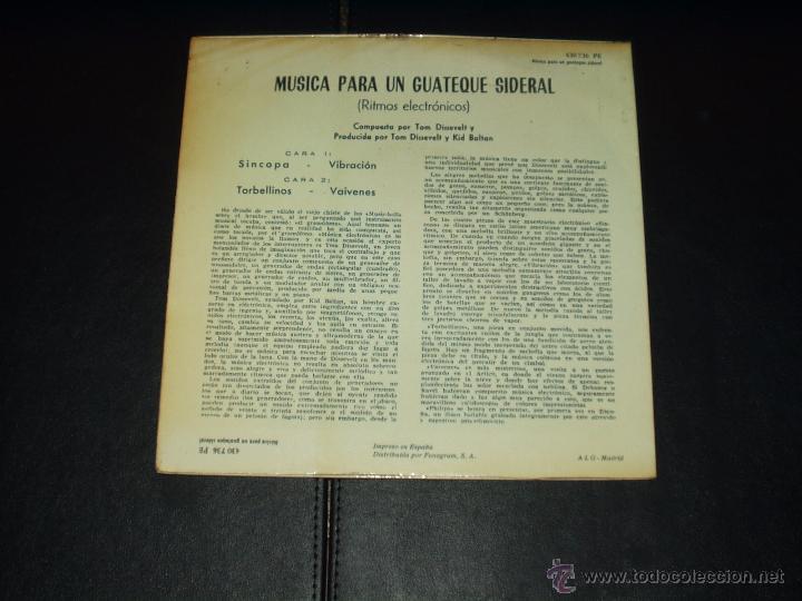 Discos de vinilo: TOM DISSELVET EP MUSICA PARA UN GUATEQUE SIDERAL - Foto 2 - 54576891