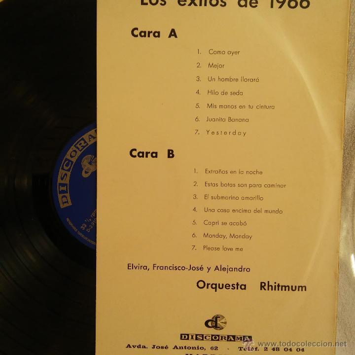 Discos de vinilo: DISCO LP EXITOS DE 1966 DOBLE CARATULA, VINILO DE DISCOGRAMA. - Foto 3 - 54582212