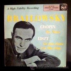 Discos de vinilo: BRAILOWSKY - CHOPIN - LISZT . Lote 54582276