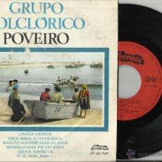 Discos de vinilo: GRUPO FOLCLORICO POVEIRO EP LIMAO VERDE + 5.PORTUGAL. Lote 54582498