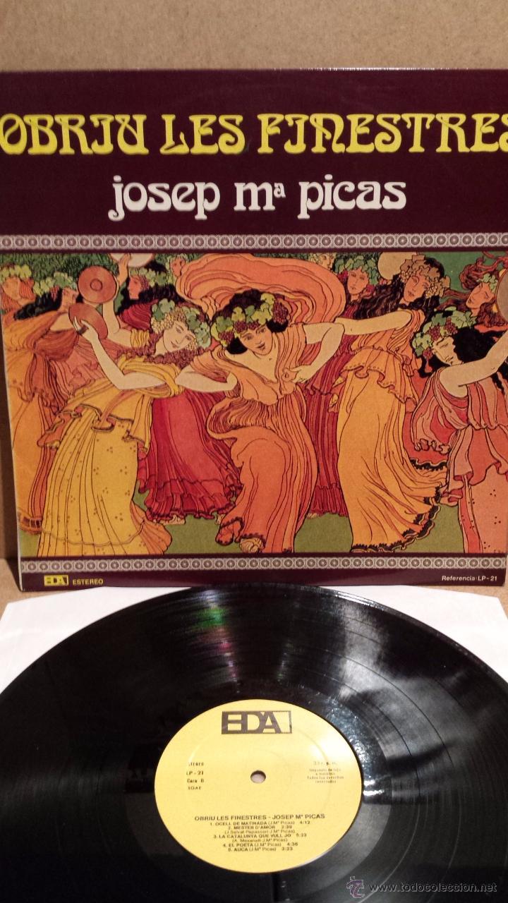 JOSEP Mª PICAS. OBRIU LES FINESTRES. LP / EDA - 1979 / CALIDAD LUJO. ****/**** (Música - Discos - LP Vinilo - Country y Folk)