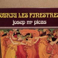 Discos de vinilo: JOSEP Mª PICAS. OBRIU LES FINESTRES. LP / EDA - 1979 / CALIDAD LUJO. ****/****. Lote 54583370