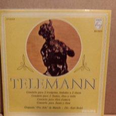 Discos de vinilo: ORQUESTA PRO ARTE DE MUNICH.( KURT REDEL ) TELEMANN - CONCIERTOS. LP / PHILIPS - 1968. MBC ***/***. Lote 54583390