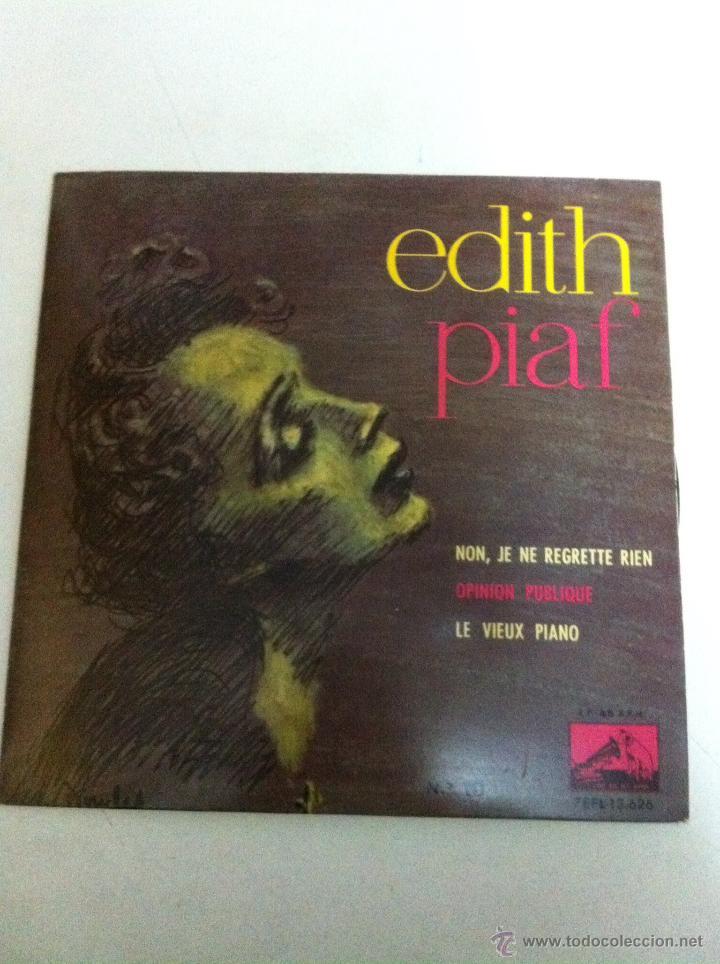 EDITH PIAF - NON, JE NE REGRETTE RIEN (1961) (Música - Discos de Vinilo - EPs - Canción Francesa e Italiana)