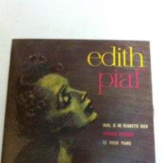 Discos de vinilo: EDITH PIAF - NON, JE NE REGRETTE RIEN (1961). Lote 54588299