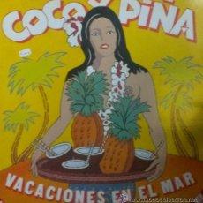 Discos de vinilo: COCO Y PIÑA (VACACIONES EN EL MAR) MAXI SINGLE DE 1986. Lote 54598507