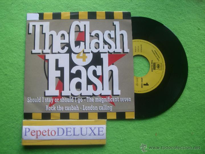 THE CLASH FLASH SG SPAIN 1991 PDELUXE (Música - Discos - Singles Vinilo - Punk - Hard Core)