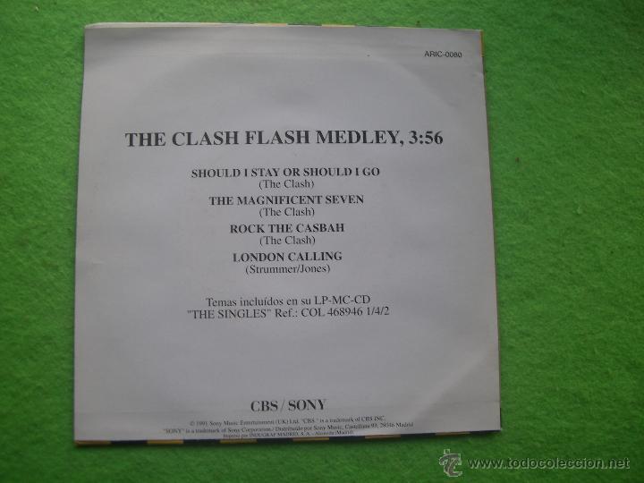 Discos de vinilo: THE CLASH FLASH SG SPAIN 1991 PDELUXE - Foto 2 - 54598701