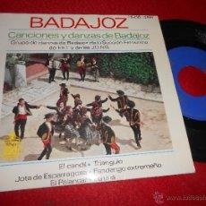 Discos de vinilo: GRUPO DANZAS BADAJOZ SECCION FEMENINA FET JONS EL CANDIL/LA UVA/ESPARRAGOSA +3 EP 1963 HISPAVOX. Lote 54599156