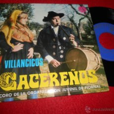 Discos de vinilo: CORO ORGANIZACIÓN JUVENIL PIORNAL VILLANCICOS CACEREÑOS AL MAS BELLO NIÑO/ROSCA ANTIGUA +3 1969 PAX . Lote 54599232
