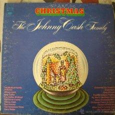 Discos de vinilo: THE JOHNNY CASH FAMILY CHRISTMAS LP USA 1972 GATEFOLD . Lote 54604415