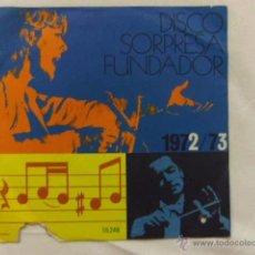 Discos de vinilo: SINGLE. DISCO SORPRESA FUNDADOR. 1972/73. ZARZUELAS. Lote 54605326