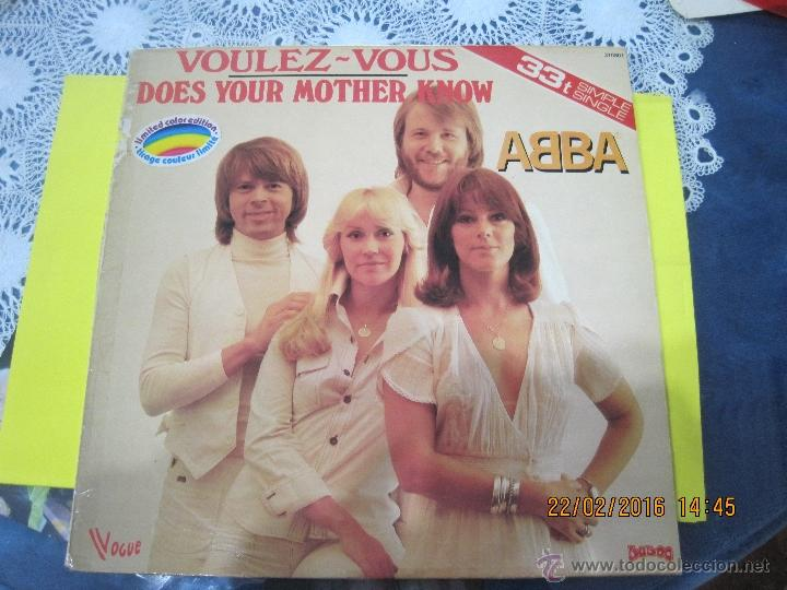 ABBA-VOULEZ-VOUS- MAXI SINGLE -VINILO ROJO FRANCES- RARO!!!! (Música - Discos de Vinilo - Maxi Singles - Pop - Rock Extranjero de los 70)