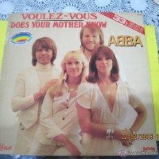 Discos de vinilo: ABBA-VOULEZ-VOUS- MAXI SINGLE -VINILO ROJO FRANCES- RARO!!!!. Lote 54606483