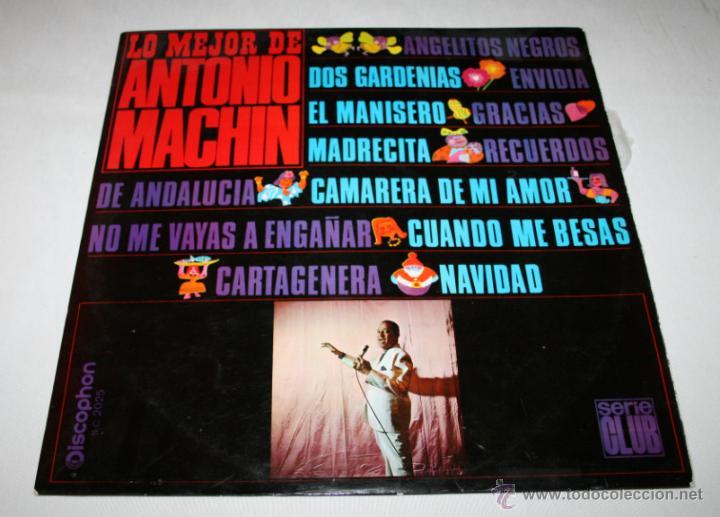 LO MEJOR DE ANTONIO MACHIN,SERIE CLUB, DISCOPHON 1967, DISCO DE VINILO LP 12 CANCIONES (Música - Discos - LP Vinilo - Cantautores Extranjeros)
