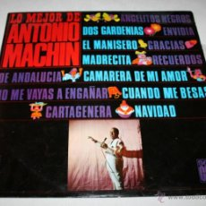 Discos de vinilo: LO MEJOR DE ANTONIO MACHIN,SERIE CLUB, DISCOPHON 1967, DISCO DE VINILO LP 12 CANCIONES. Lote 54606990