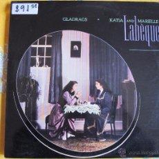 Discos de vinilo: LP - KATIA AND MARIELLE LABEQUE - GLADRAGS (SPAIN, EMI 1983). Lote 54612764