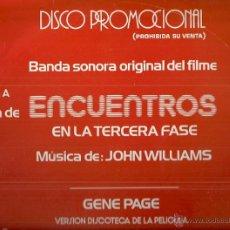 Discos de vinilo: BANDA SONORA DEL FILM ENCUENTROS EN LA TERCERA FASE MAXI-SINGLE SELLO ARISTA AÑO 1978 PROMOCIONAL. Lote 54621623