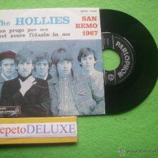 Discos de vinilo: THE HOLLIES NON PREGO PER ME SG ITALIA 1967 PDELUXE. Lote 54621939