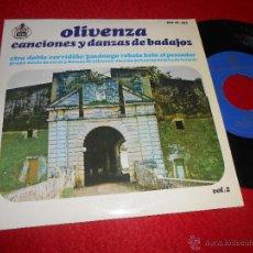 Discos de vinilo: GRUPO MIXTO OLIVENZA SECCION FEMENINA FET JONS VIRA DOBLE/CORRIDIÑO/FANDANGO +2 EP 1965 BADAJOZ. Lote 54622670